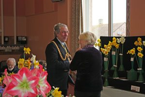 His Worship the Mayor of Weymouth and Portland, Mr G Winter at the BUDHS Spring Show 2012